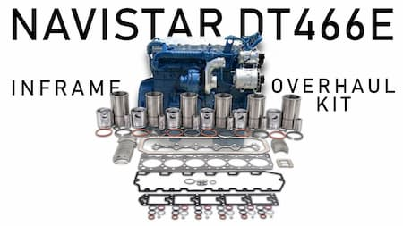 navistar diesel engine rebuild kit international dt466e inframe overhaul | Highway & Heavy Parts