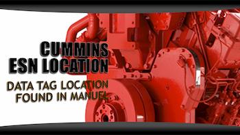 cummins esn location | Highway & Heavy Parts