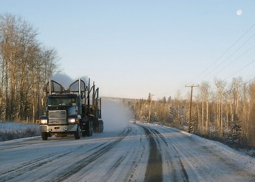 semi truck driving winter | Highway & Heavy Parts