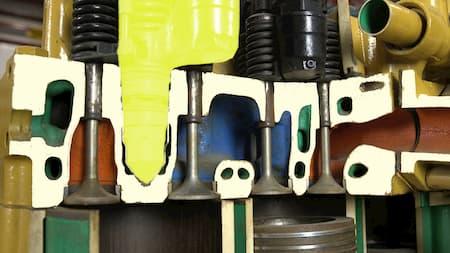 cylinder head fuel injectorcylinder head intake valves diagram   Highway & Heavy Parts