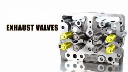 cylinder head highlighted exhaust valves diagram | Highway & Heavy Parts