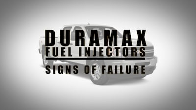 duramax injectors sings of failure | Highway & Heavy Parts