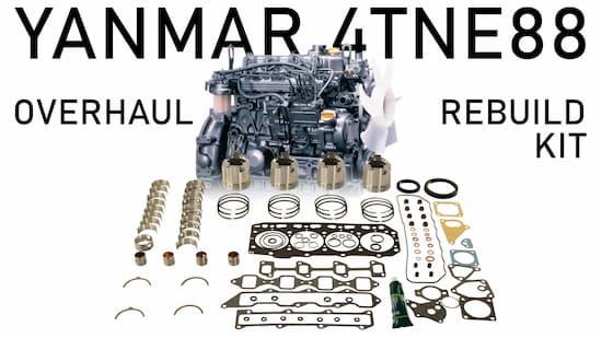 yanmar 4tne88 overhaul rebuild kit components | Highway & Heavy Parts