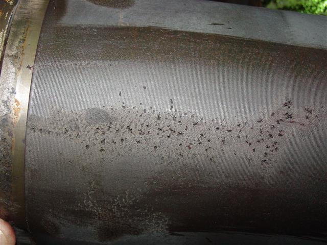 Pitted liner cavitation corrosion