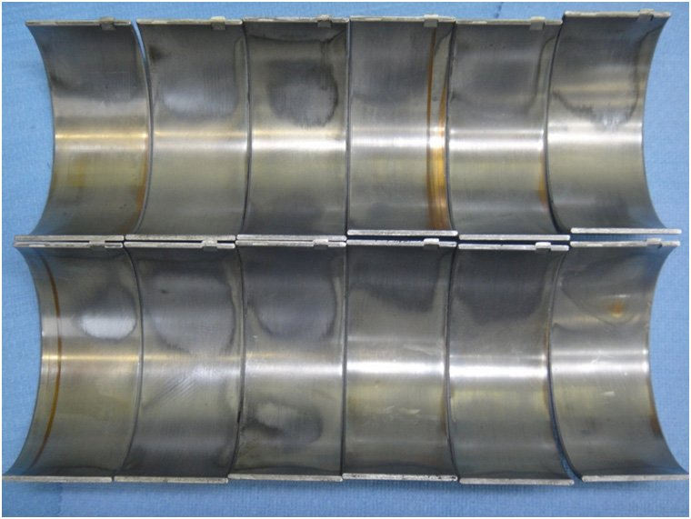 Rod Bearing Failure Gouges in Bearings   Highway & Heavy Parts