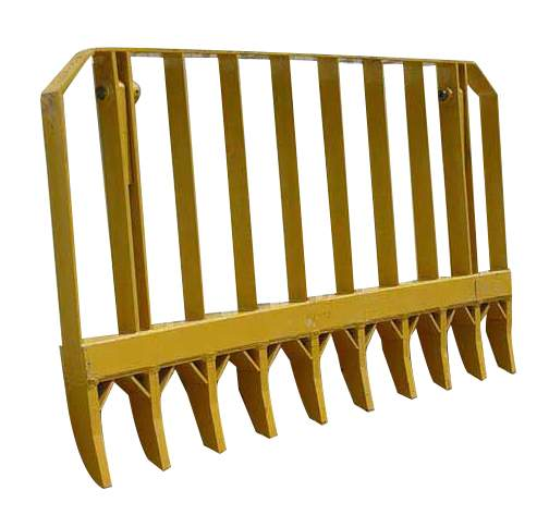 9' Root Rake with Mounting Brackets & Pins, New | Highway and Heavy Parts (9' Root Rake with Mounting Brackets and Pins)