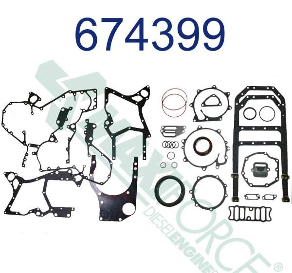 MAX - RP-674399C96 | International/Navistar Lower Gasket Set - Image 1