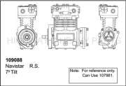 Air Systems - PRB - 109088 | Navistar, Caterpillar Brake Air Compressor