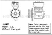 11.1L - Air Compressor Drive - 109429   Detroit Diesel Series 60 Air Compressor TF-550, Remanufactured