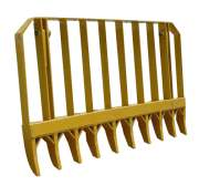 Agricultural - 9' Root Rake with Mounting Brackets & Pins, New