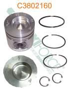 Construction/Industrial - Cummins - 3802066 | Cummins 46/6B Standard Piston Kit