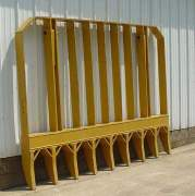 Heavy Equipment Parts - PVP - PVP - PV491A | 8' Root Rake (Tall) (With Mounting Brackets & Pins)