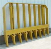 Heavy Equipment Parts - PVP - PVP - PV491 | 8' Root Rake (With Mounting Brackets & Pins)