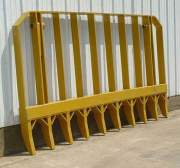 Heavy Equipment Parts - PVP - PVP - PV492 | 9' Root Rake (With Mounting Brackets & Pins)